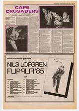 Nils Lofgren Flip Tour Advert NME Cutting 1985