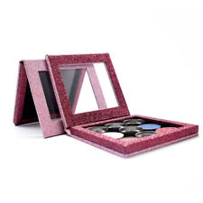 "Pro Empty Magnetic Makeup Palette Eyeshadow Palette 3.9*3.9"" Pink Glitter DIY"