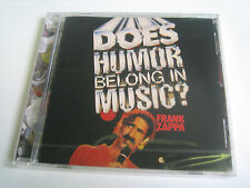 Frank tsappa-Does Humour appartiens dans Music? - Neuf + emballage d'origine!