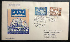 1956 Greenland First Day Cover FDC To Traastrup Denmark MXE