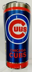 Chicago Cubs 20 oz Stainless Steel Tervis Thermos NWT Home Run Royal Red Bottle