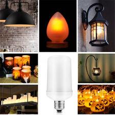 E27 5W LED SMD 1300K Flicker Flame Fire Lamp Bulb AC110-240V Yellow Corn Light