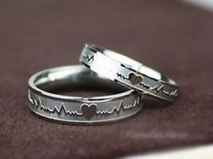 Wedding Engagement Couples Promise Rings and Heart Rings With Without Stone