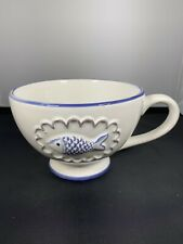 Delicate Beautiful Mug With Blue Fish