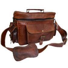 Indian Bag Genuine Leather Camera Lens Case DSLR Sony Canon Nikon Photography