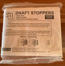 New Draft Stoppers Plugs drafty electrical outlets switches,Energy Saver +Bonus