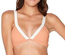 130222587b3ed NEW L SPACE  Farrah  Color Block Triangle Bikini Top Small S Tropical Peach