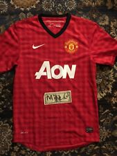Manhester United 2012-2013 Nike home kit/jersey WORN sz SMALL