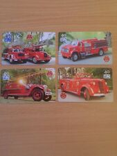 Collectable Phonecards. 4 Fire Engine Cards.
