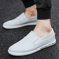 New Men's Loafers Casual Breathable Running Fitness Walking Canvas Shoes Size