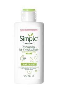 Simple Hydrating Light Moisturiser Kind to Skin 125ml