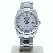 Rolex Datejust 116200 36mm Watch Oyster Band White Index Dial & Smooth Bezel