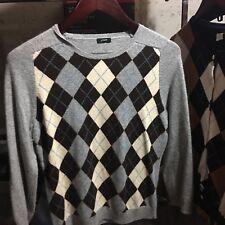 J Crew Argyle Sweater Medium