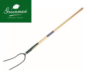 "Hay Fork 2 Prong High Quality Greenman Ash Handled 4 ft 48"""