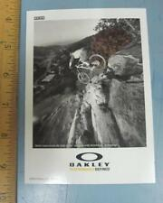 OAKLEY mountain bike 2010 BRIAN LOPES dealer promo display card 2 New Old Stock