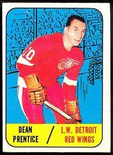 1967 68 TOPPS HOCKEY #46 DEAN PRENTICE EX+ DETROIT RED WINGS CARD