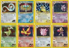 Pokemon cards Gym Heroes HOLO. (Gengar Moltres Dragonair Clefable Scyther etc)