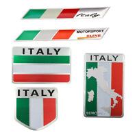 Aluminio 3D Metal ITALIA Bandera Italiana Etiqueta Insignia Coche Decorac*ws