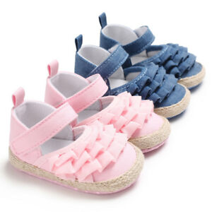 Newborn Baby Girl Crib Shoes Infant Princess Dress Shoes First Shoes 0-18 Months
