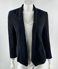 Ann Taylor Blazer Size 10 Tall Career Suit Jacket Solid Open Front 3/4 Sleeve