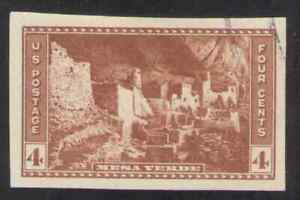 US. 759. 4c. Cliff Palace. Mesa Verde CO, National Parks Year. Imperf. Used 1935