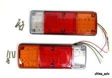 2X 12V 89 LED TRAILER TRUCK BUS VAN STOP REAR TAIL INDICATOR LIGHTS REVERSE LAMP