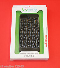 "KRUSELL Aluminium & Bioplastic Cover 89749 for iPhone 5 & 5S in Black Wave ""NEW"""