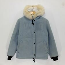 Vintage Hudsons Bay Co Pure Virgin Wool Parka Coat Jacket Custom Blue