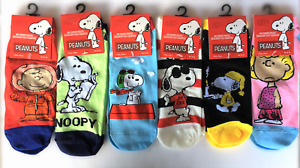 Peanuts Snoopy Charlie Brown Woodstock Womens No Show Socks Set of 6 Size 9-11