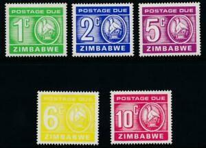 Zimbabwe 1980 Postage Due SG D23-D27 MNH