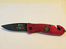 Tagliacinture coltello per soccorritori vigili del fuoco croce rossa inox