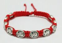 Pope Saint John Paul II metal medal Bracelet on Red cord St Pope John Paul II