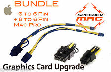  Lot de 2 Cables 6/6 Pin + 6/8 Pin pour alimentation de carte graphique Mac Pro