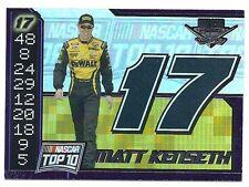 Matt Kenseth 2004 Wheels High Gear Top Ten Card, # TT 1 of 9. NASCAR