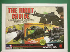8/2006 PUB LASER DEVICES MILITARY AIMING LASER TACTICAL LIGHTS US ARMY AD