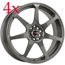 Drag Wheels DR-33 18x7.5 5x100 5x114.3 Gun Metal Rims For Camry Maxima Mazda