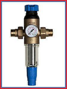 """Hauswasserfilter 3/4"""" mit Druckminderer und Anzeige, WASSERFILTER, spülbar,  NEU"""