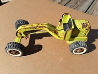 Vintage Tonka Small Green Road Grader For Parts Or Restoration.Pressed Steel Toy