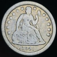 1841 O Seated Liberty Dime 10c High Grade Good Date Early US Silver Coin CC3490