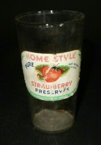 Promotional Glass Home Style Strawberry Preserves Glass      K