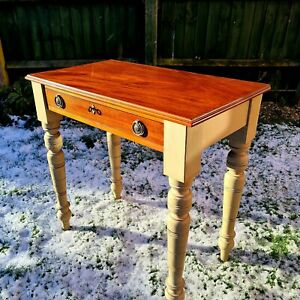 Small  Mahogany Writing Desk Or Hall/Side Table