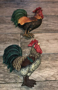 2 Piece Rooster Wall plaque Kitchen Chicken country
