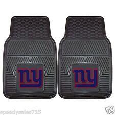 PAIR FANMATS NFL New York Giants Front Heavy Duty Car Mats New Free Ship