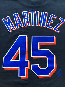 NY Mets Pedro Martinez Black T-Shirt Jersey XL Majestic