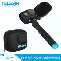 TELESIN Portable Mini Bag Fuselage Protector Carrying Case For GoPro Hero 7 6 5