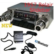 1957 CHEVY BELAIR SLIDEBAR RADIO & Bluetooth Kit 300 watt USB iPod Doc