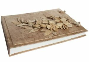Flaura Bark Photo Album, Large Natural - Handmade by Life Arts