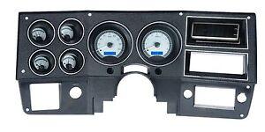 1973-1986 CHEVROLET TRUCK BLAZER VHX GAUGE KIT SILVER BLUE VHX 73C-PU-S-B
