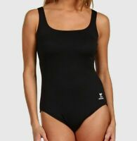 $192 Tyr Women's Black Scoop-Neck Controlfit Slimming One-Piece Swimsuit Size 6