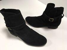 Women's Sam Edelman Comfort Black Suede Ankle Boots 10M